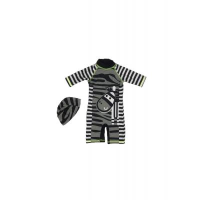 Zwempak Zebra met badmuts maat 104/110